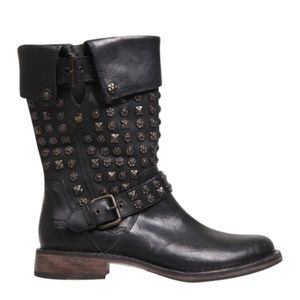 UGG Conor Studded Leather Motorcycle Boots 5